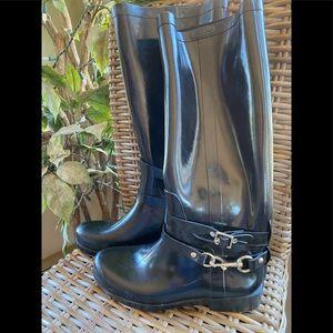 Coach 'Lori' Rubber Boots / New / Size 9